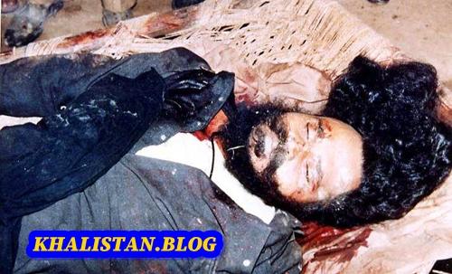 Baba Manochahal's blood soaked body