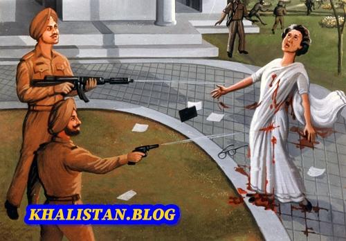 Bhai Beant Singh & Bhai Satwant Singh shooting Indira Gandhi