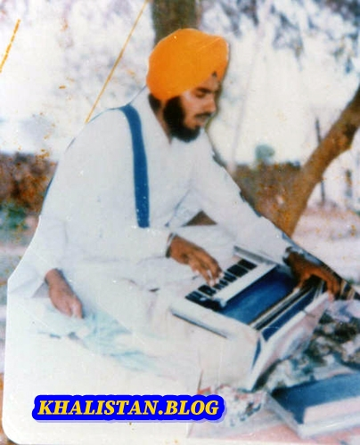 Shaheed Bhai Gurpal Singh Babbar at keertan smagam