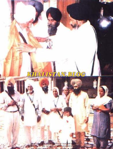 Bhai Harjinder Singh Jinda's family being honoured