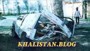 BSF vehicle blown apart