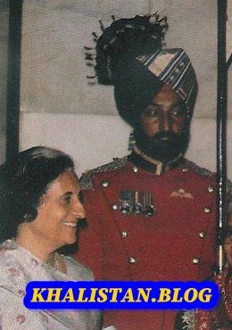 Shaheed Bhai Beant Singh with Indira Gandhi