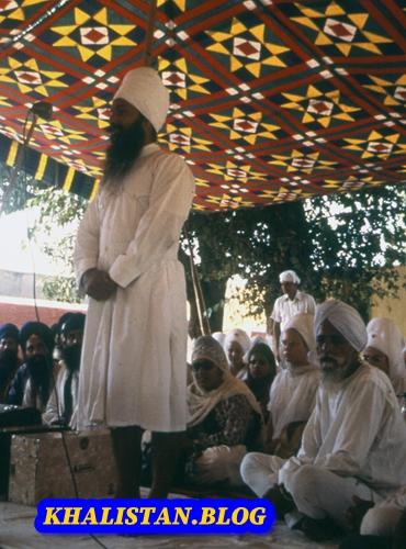 Shaheed Bhai Fauja Singh giving a speech