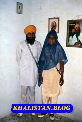 Shaheed Bhai Jagdeep Singh 'Vakeel' & wife Bibi Virpal Kaur