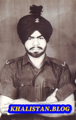 Shaheed Bhai Karaj Singh Thande in Army