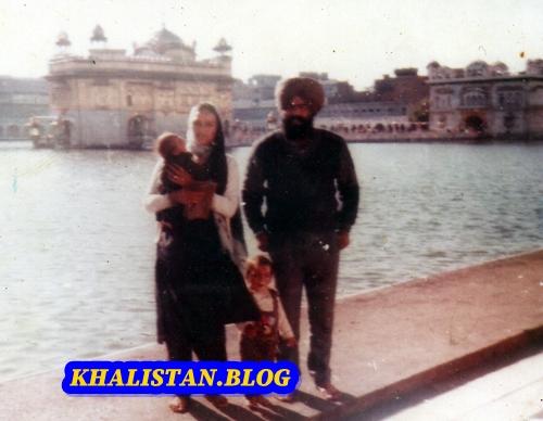 Shaheed Bhai Karaj Singh Thande with family