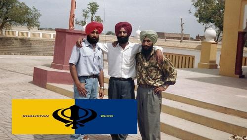 Shaheed Bhai Paramgurpreet Pal Singh 'Punia' (Centre)