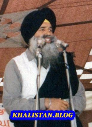Shaheed Major Baldev Singh Ghuman giving a speech
