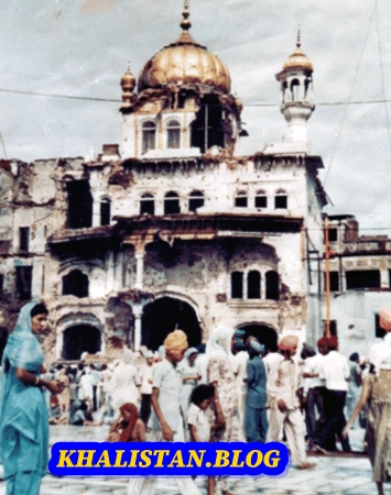 Sri Akal Takht Sahib after Operation Bluestar